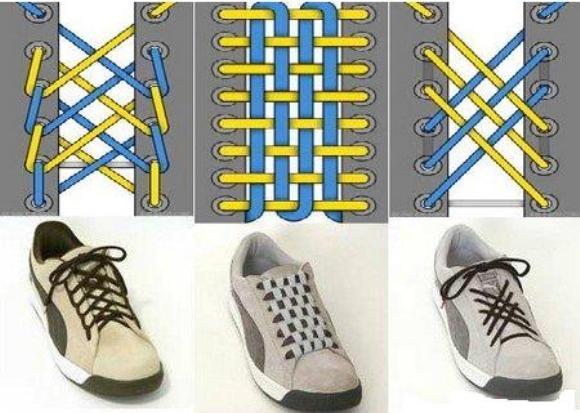 Способы завязывать шнурки