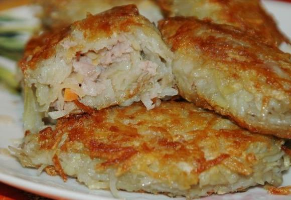 рецепт с фото зразы с мясом #8